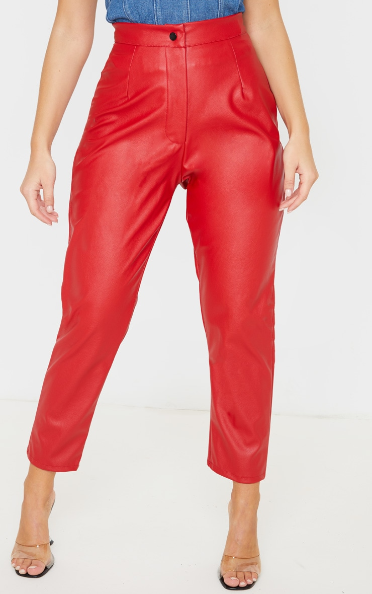 Scarlet Faux Leather Slim Leg Trousers 2