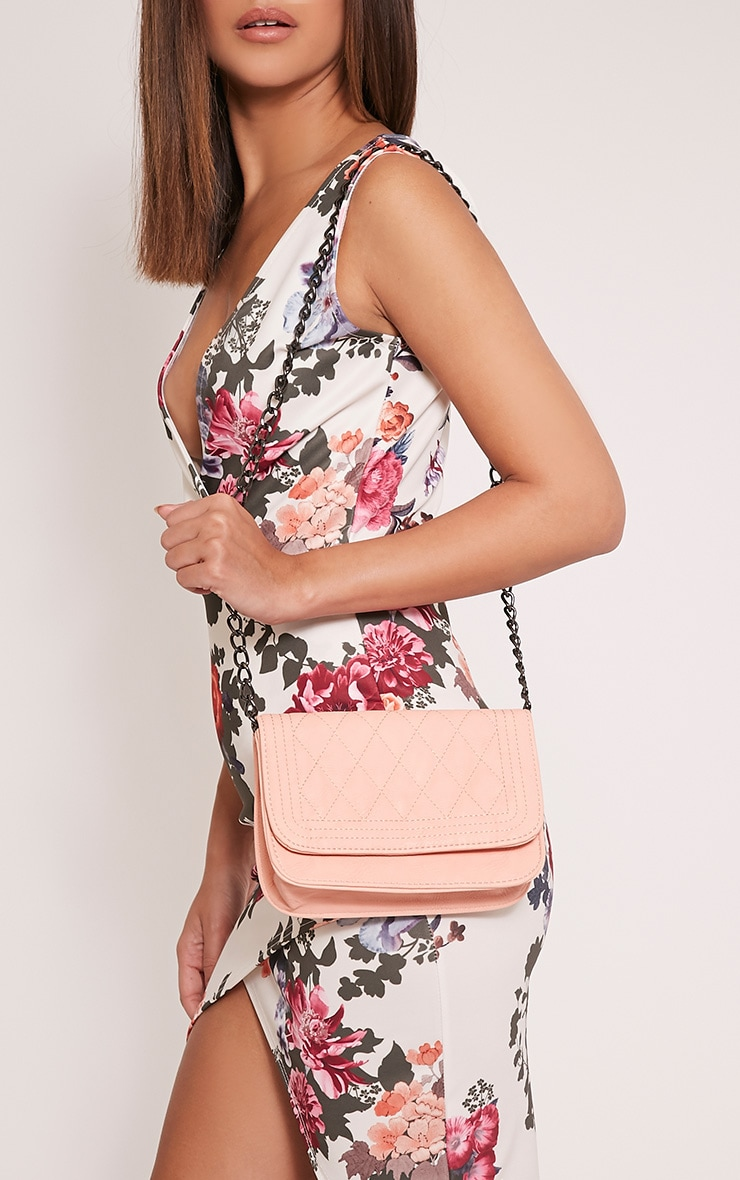 Emma Nude Quilted Chain Strap Shoulder Bag 2