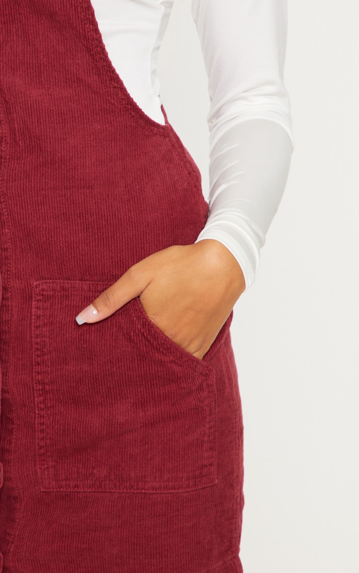 Burgundy Cord Pinafore 5