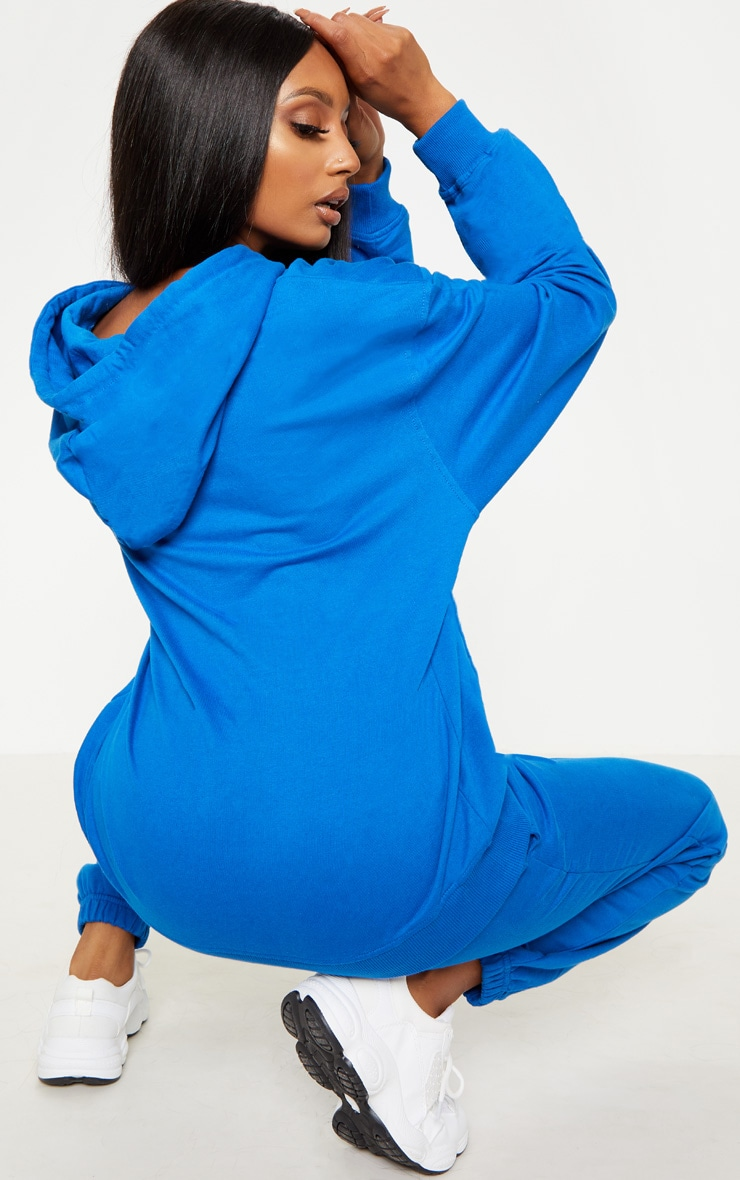 Hoodie oversized bleu cobalt à broderie PRETTYLITTLETHING 2