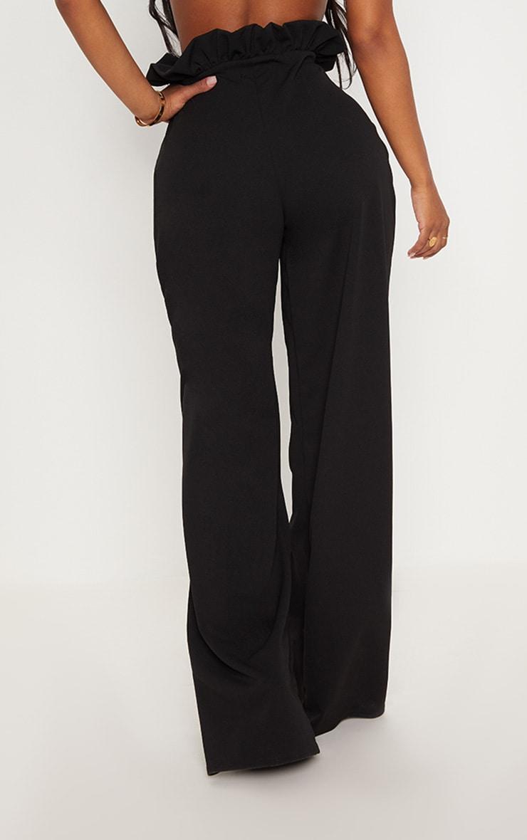 Shape- Pantalon ample noir à taille haute froissée 5