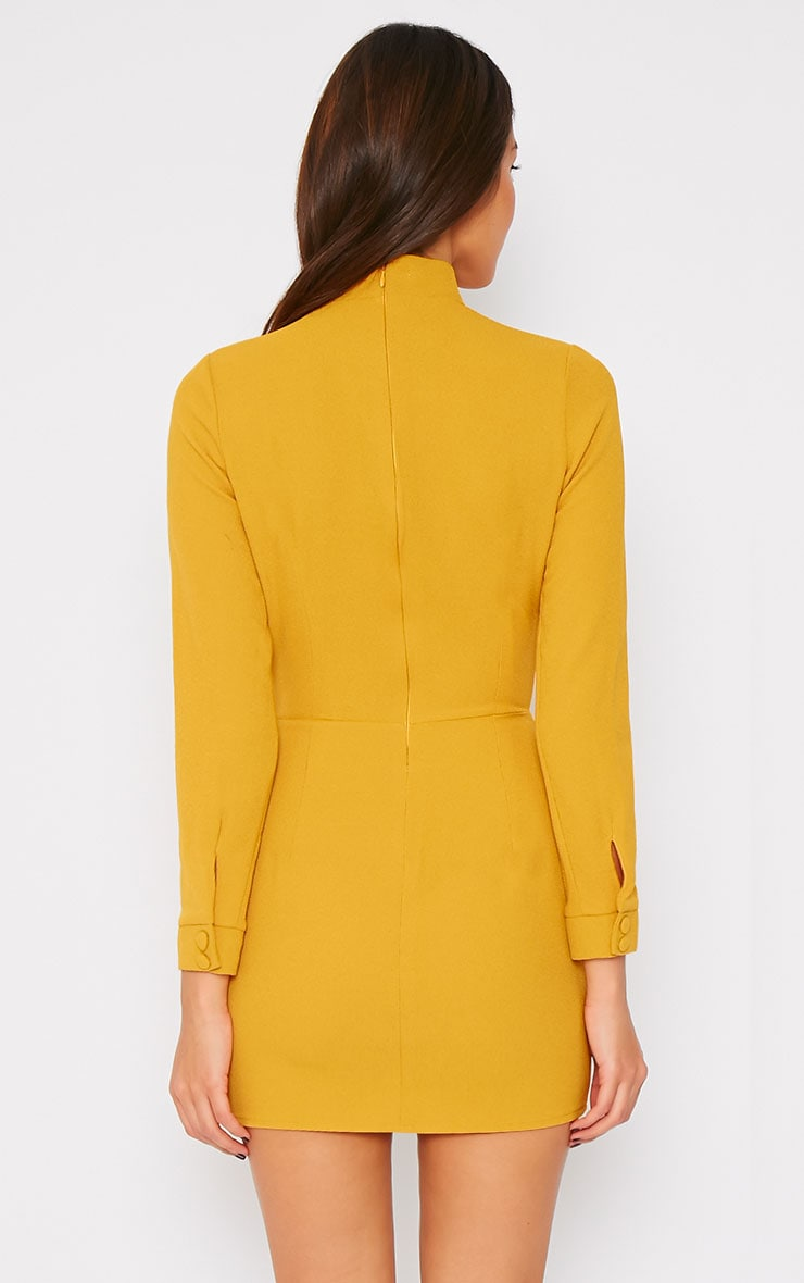 Edie Mustard Cut Out Dress 2