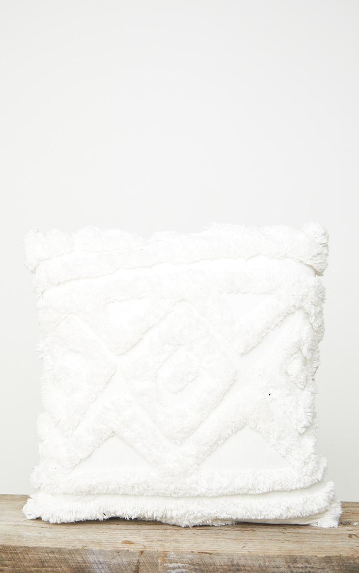 Cream Diamond Tufted Cushion 4