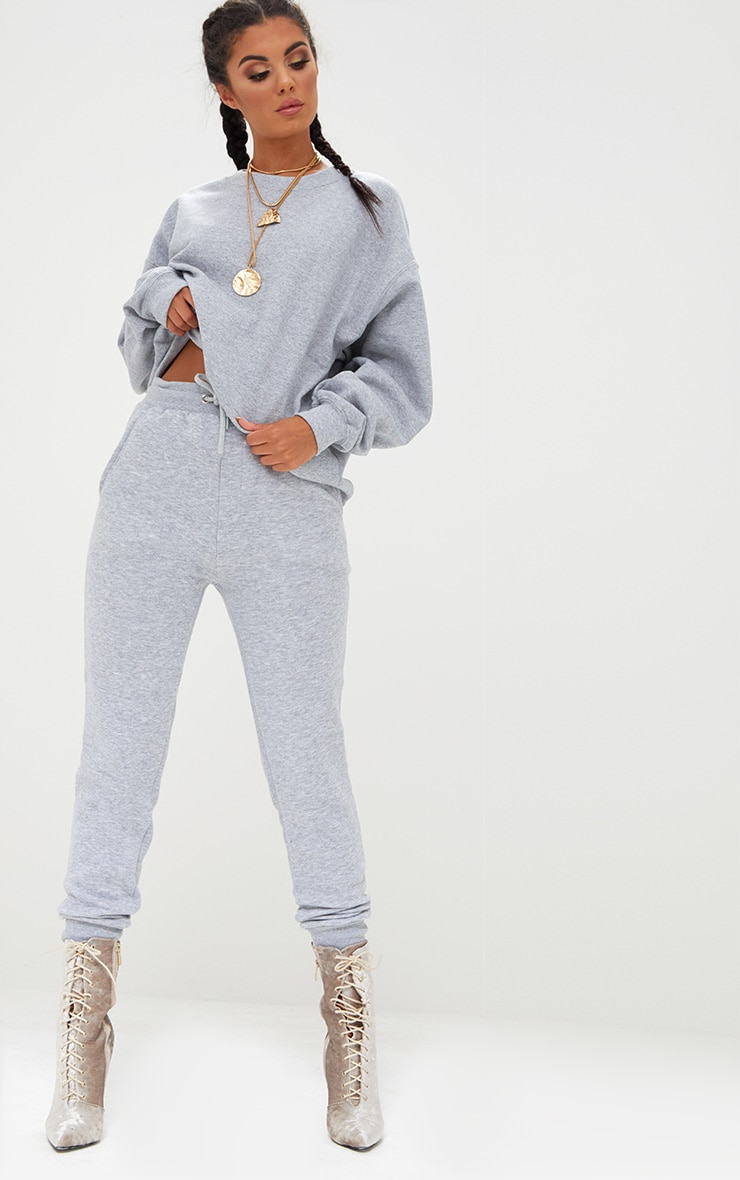 Bruna Grey Marl Sweat Joggers 1