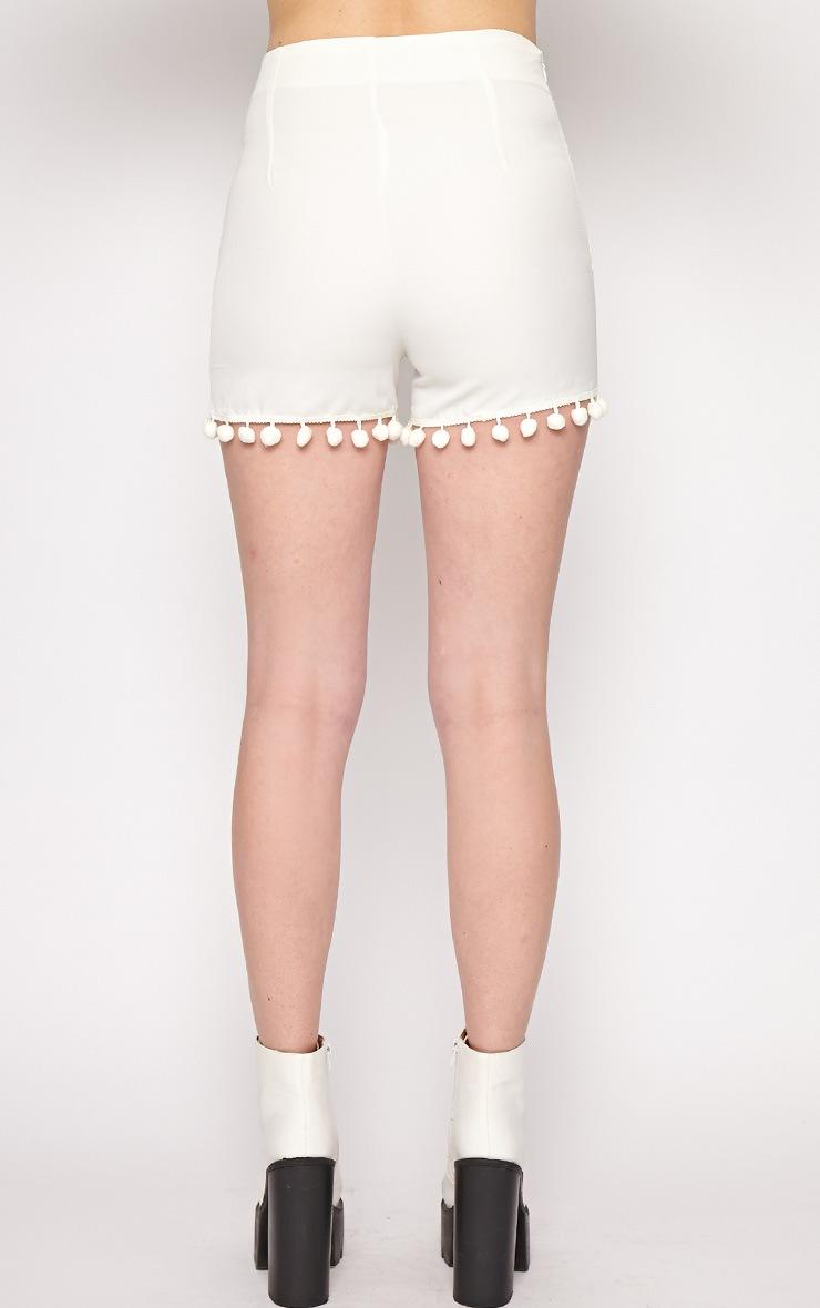 Sierra White Pom Pom Short  2