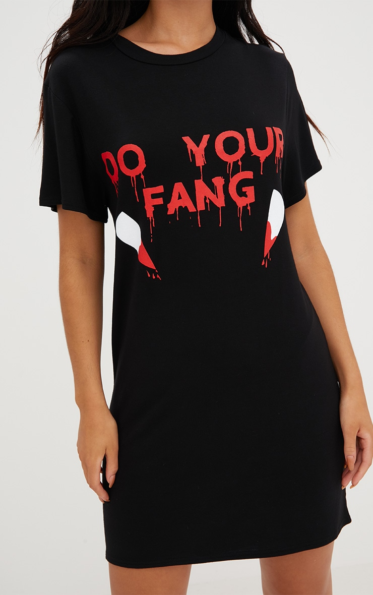 Black Jersey Do Your Fang T Shirt Dress 5