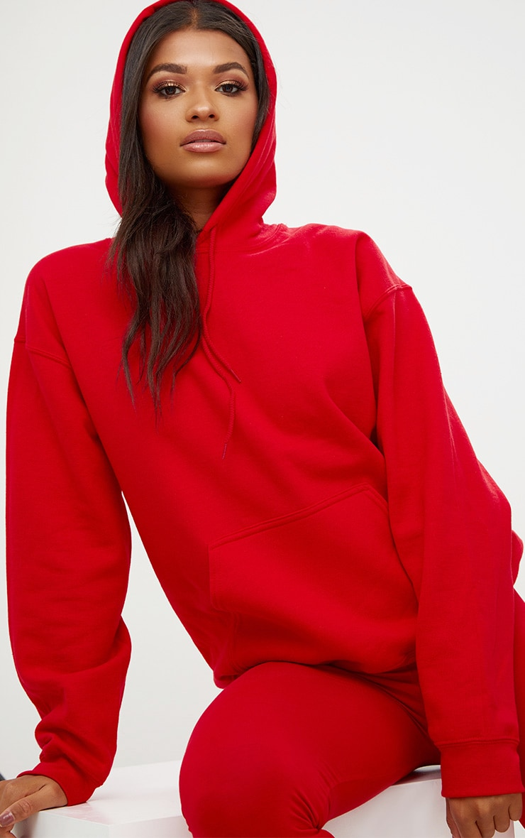 Red Ultimate Oversized Hoodie 1