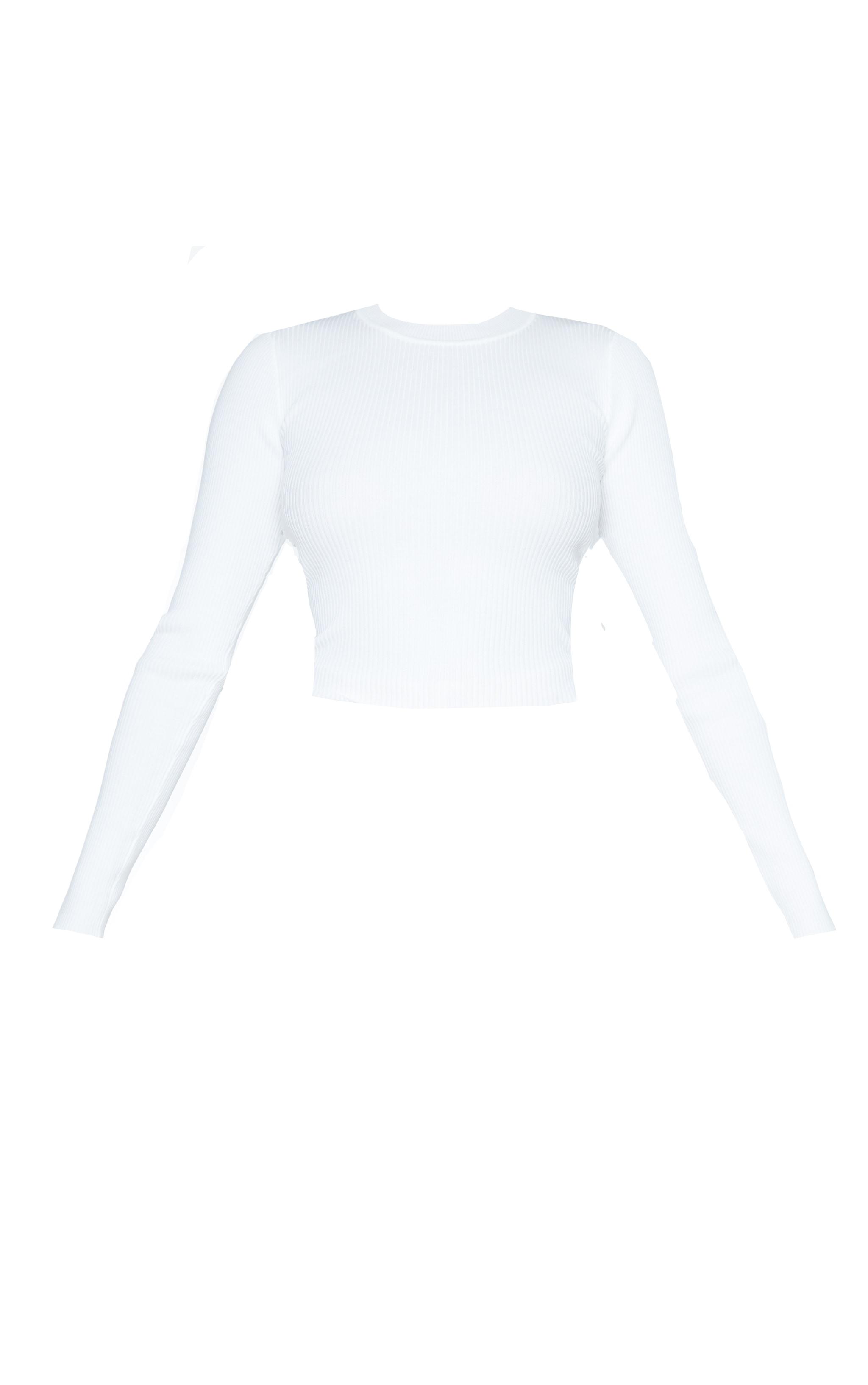 Top en maille tricot crème lacé dans le dos 5