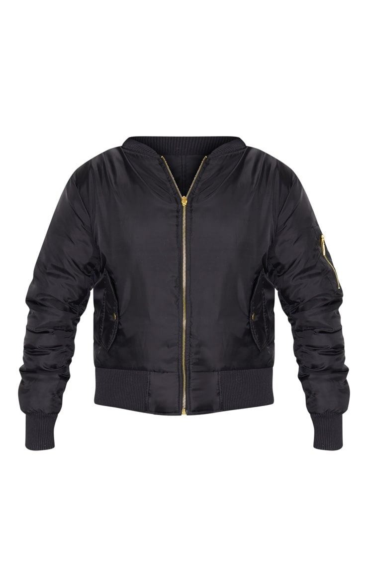 Alexus Black Bomber Jacket 5