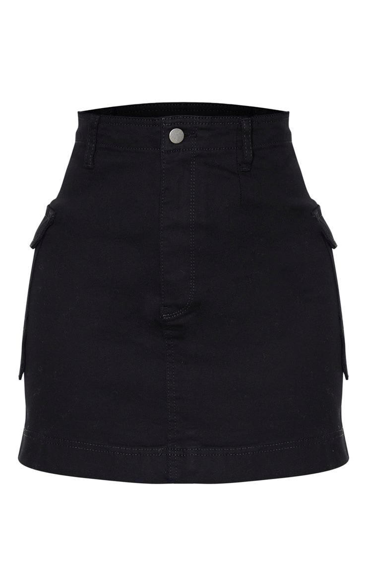 Tall Black Cargo Pocket Detail Skirt 3