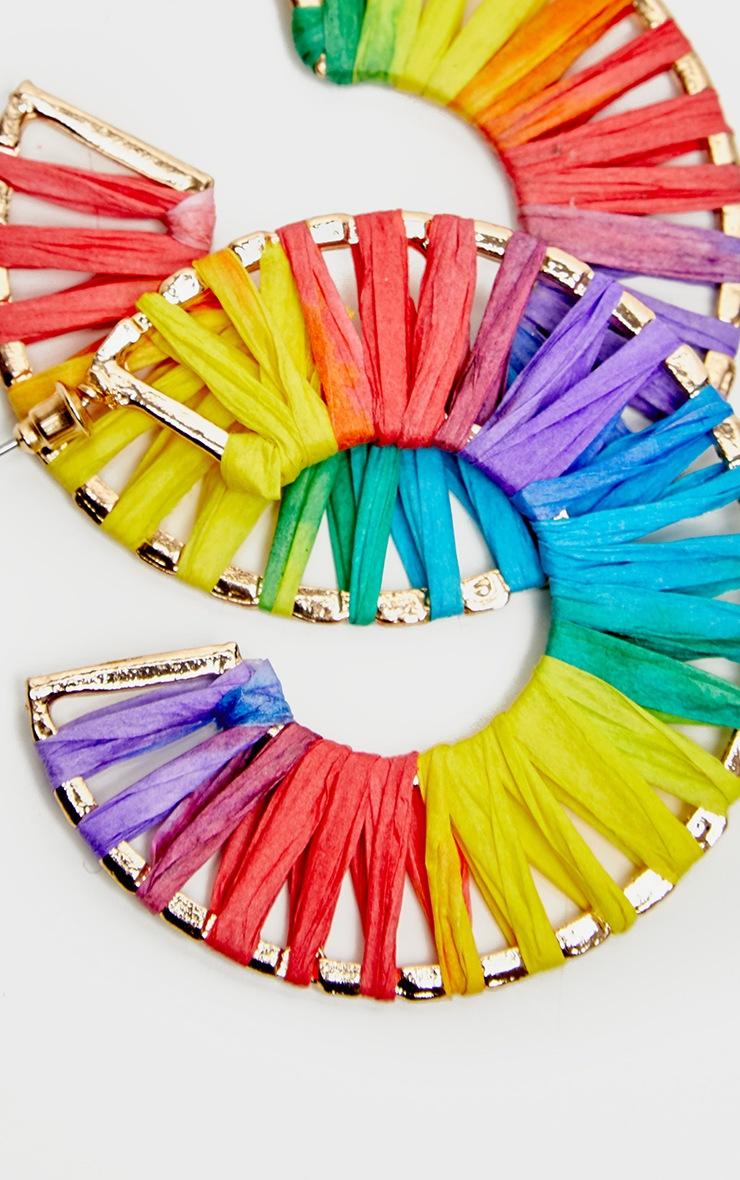 Multi Straw Rainbow Hoops 2