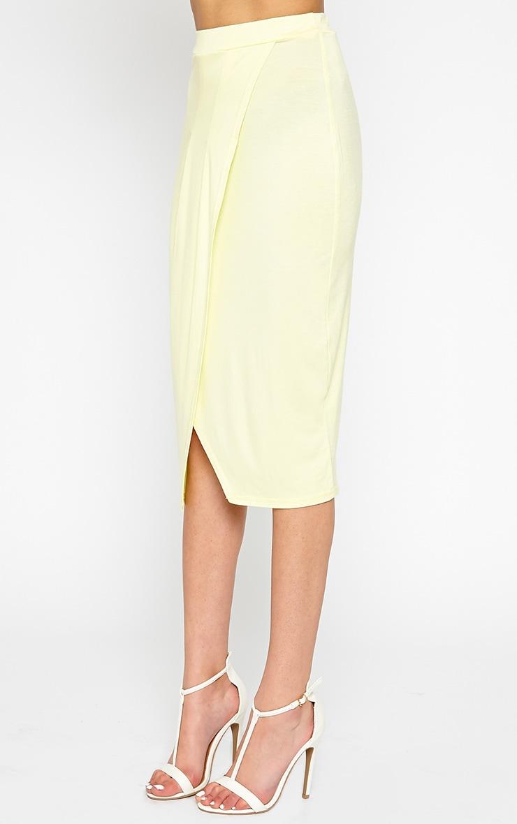 Sabbina Lemon Jersey Wrap Midi Skirt 4
