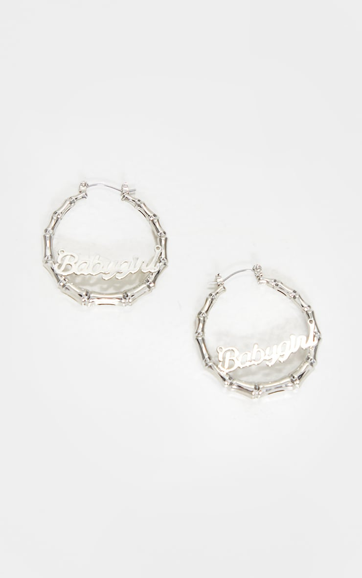 Silver Baby Girl Mini Hoop Earings 2