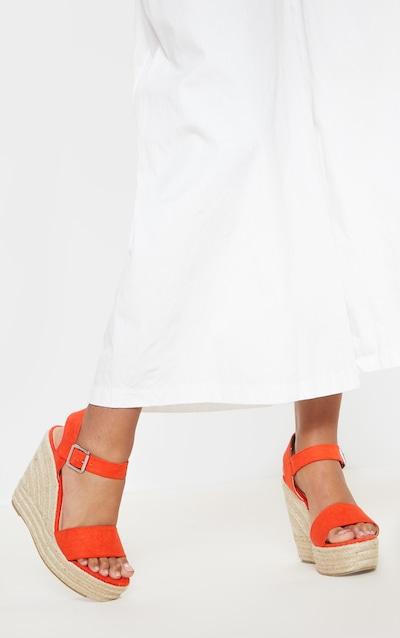Bright Orange Wedge Sandal