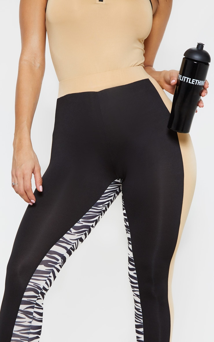 PRETTYLITTLETHING 3 Tone Gym Legging 5