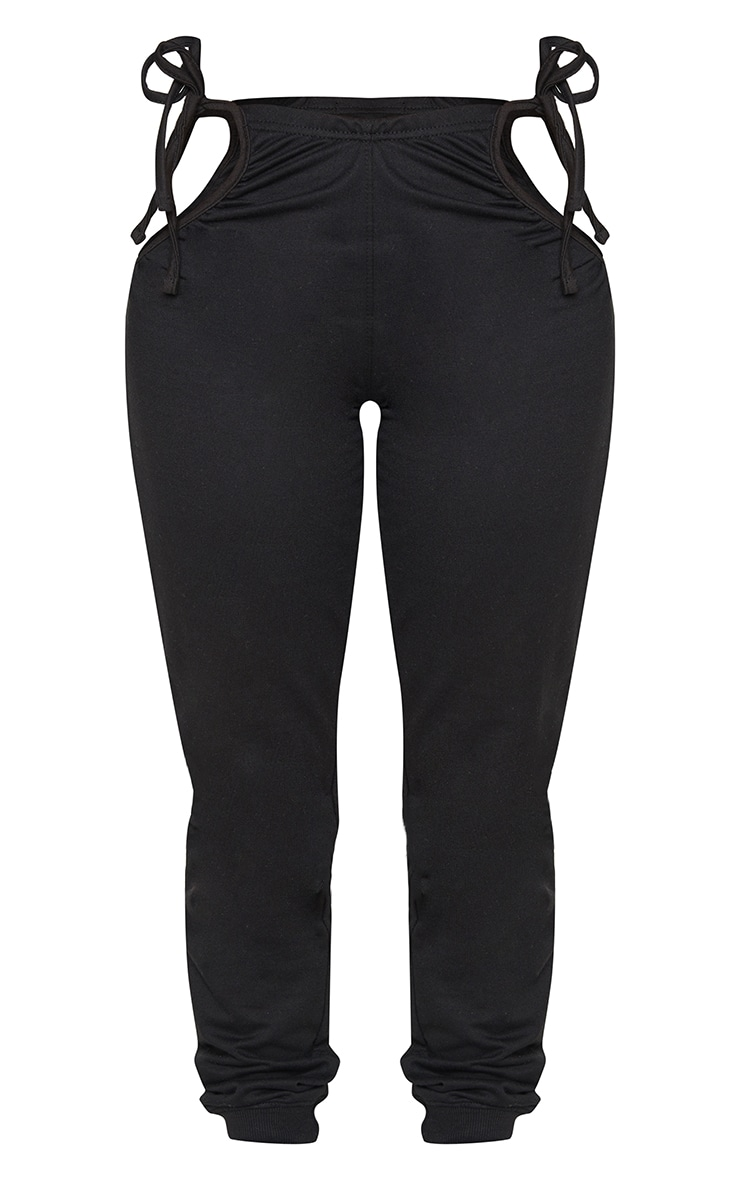Shape Black Ruched Tie Side Detail Joggers 5