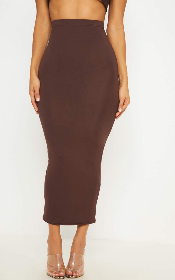 Chocolate Basic Maxi Skirt 2