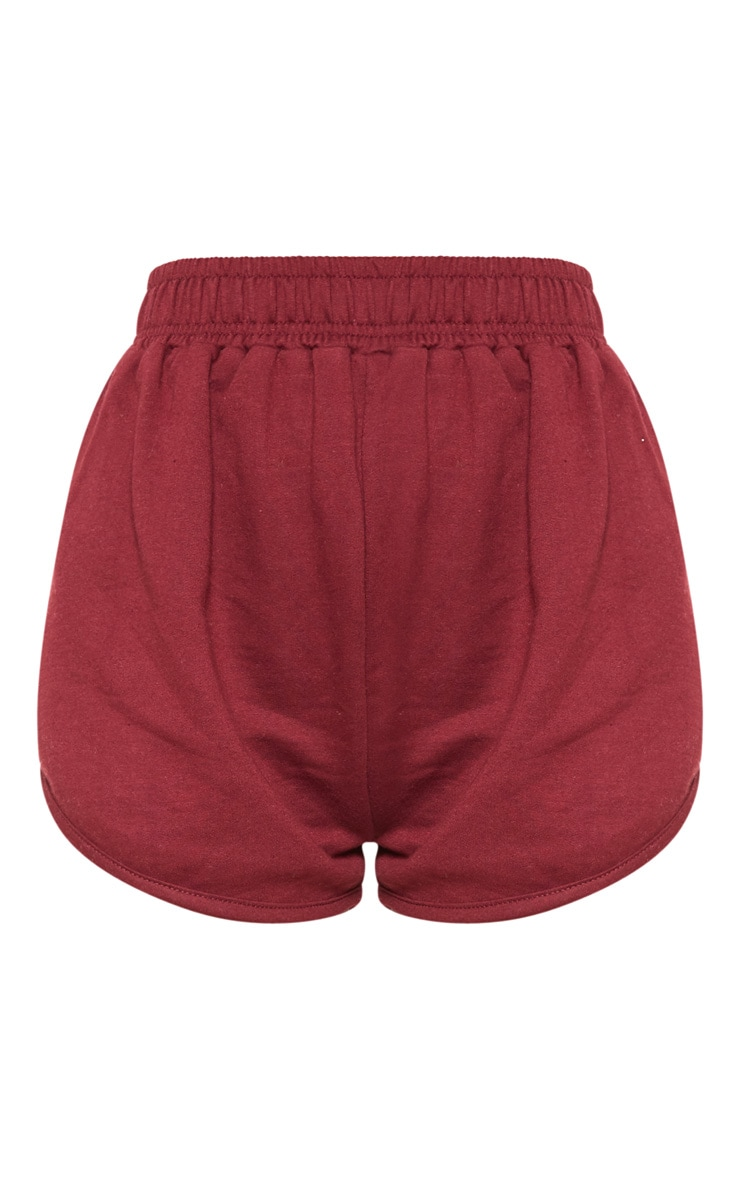 Maroon Sweat Runner Short 3