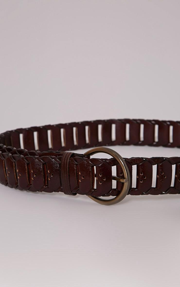 Renata Oxblood Leather Link Belt 2