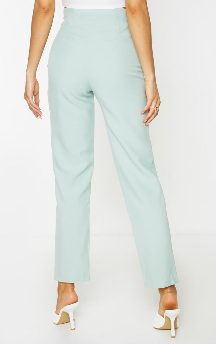 Tall Mint Cropped Suit Trousers 2