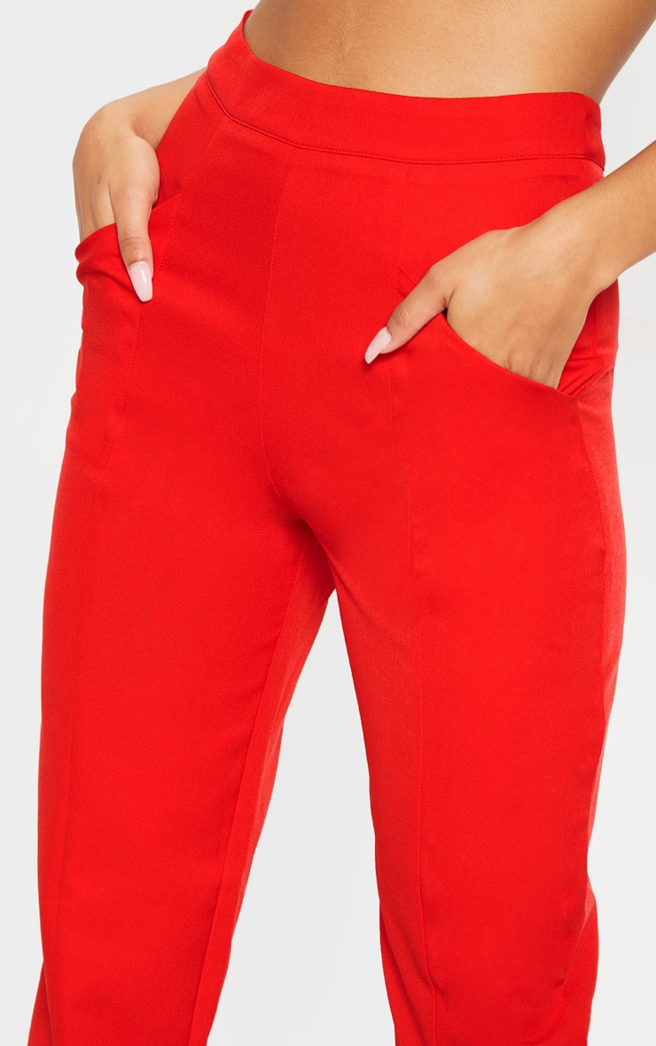 Red Tapered Trouser 5
