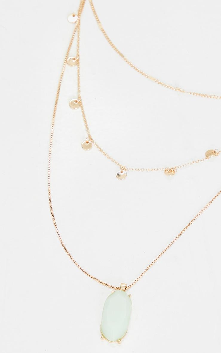 Green Aventurine Crystal Multi Layering Necklace 3