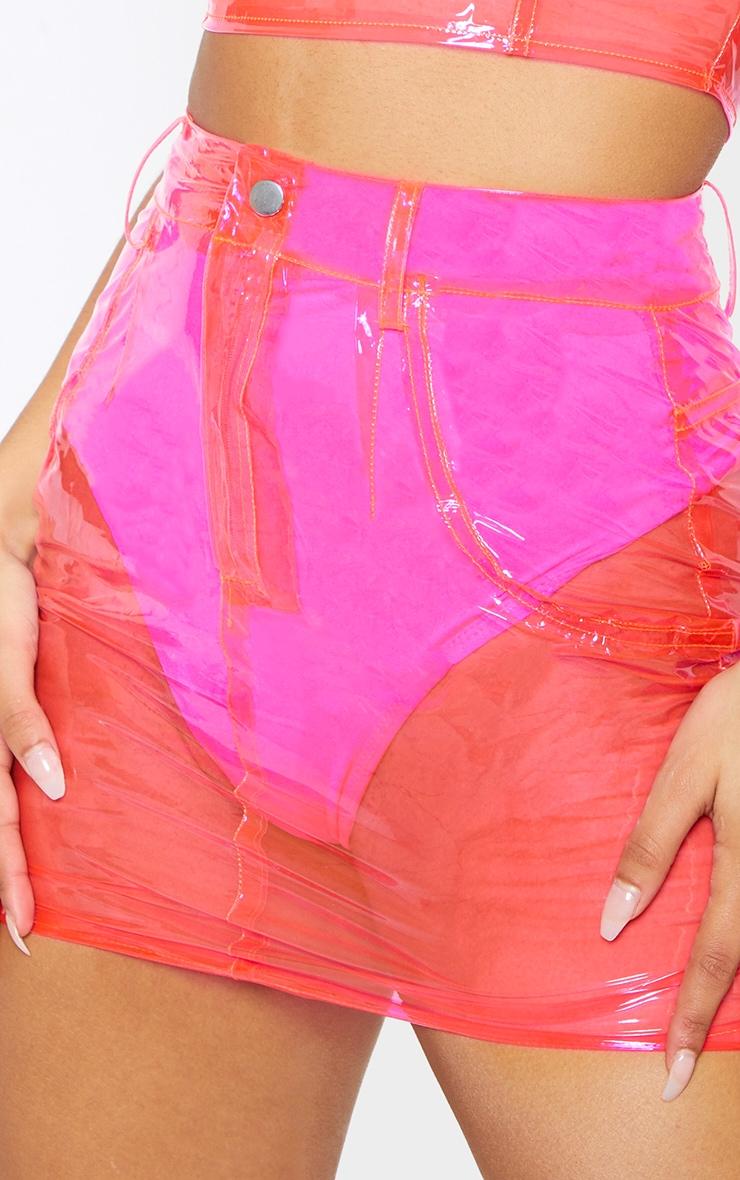 Hot Pink Transparent Mini Skirt 7