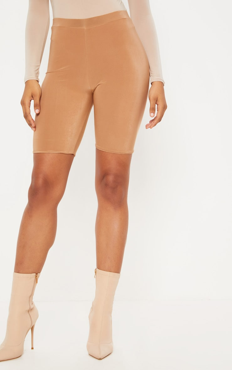 Tall - Short legging taille haute camel 2