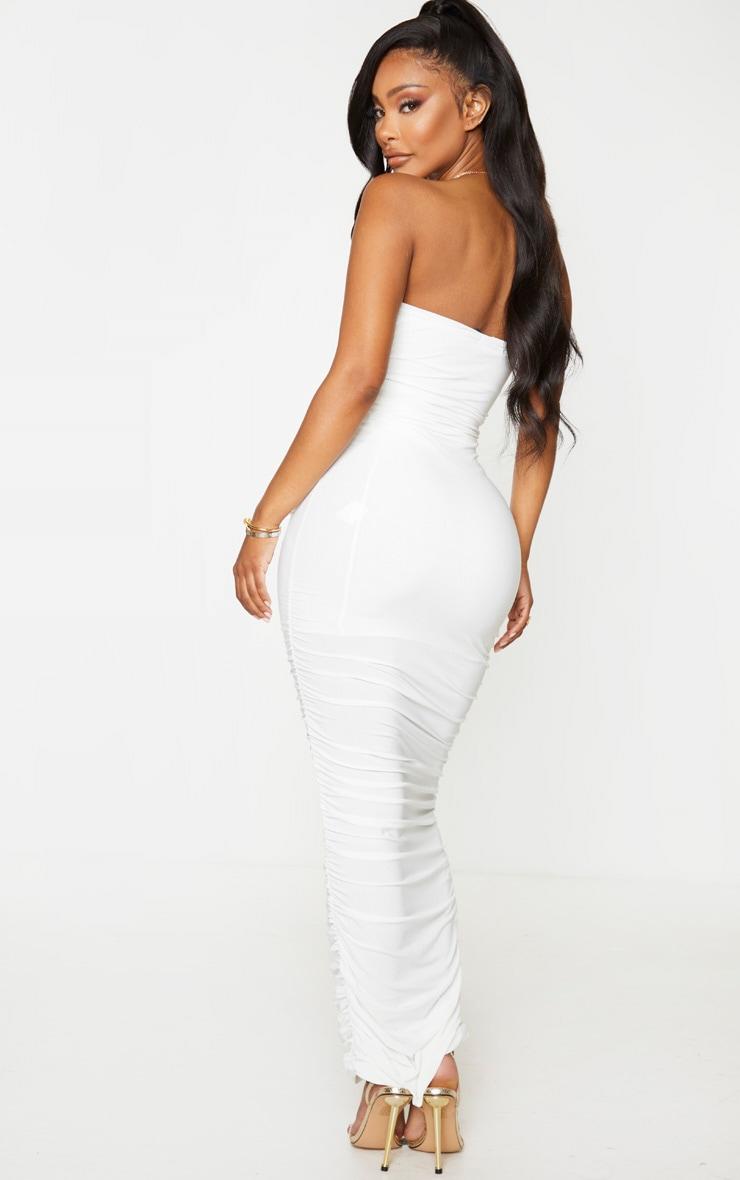 Shape Cream Bandeau Ruched Midaxi Dress 3