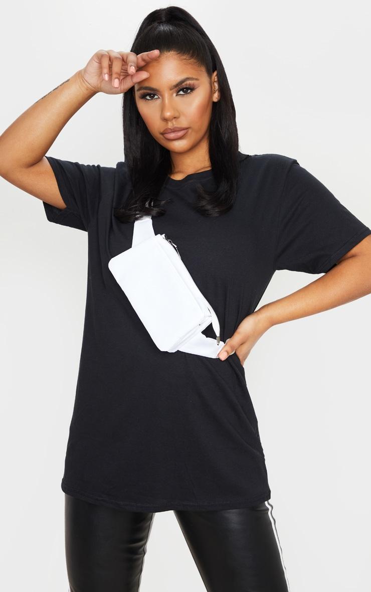PRETTYLITTLETHING Black Slogan Back T Shirt 2