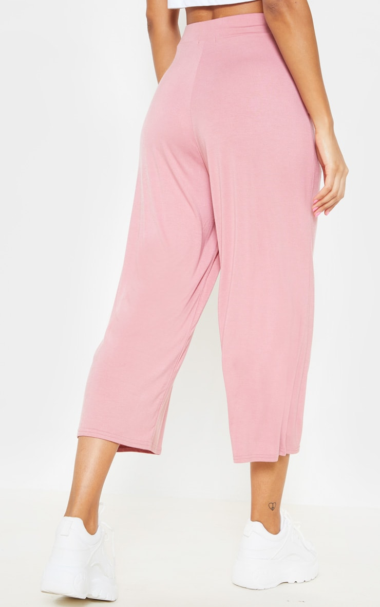 Rose Jersey Pocket Detail Culotte 4