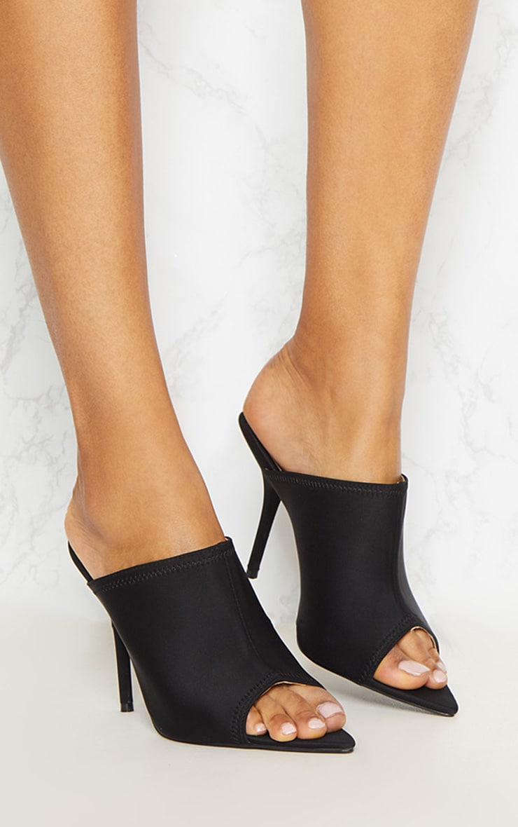 PRETTYLITTLETHING Extreme Point Twin Strap Mule 2t2qFOXfQ