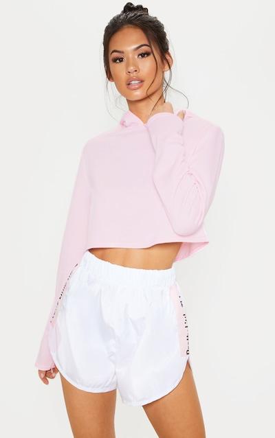 Basic Baby Pink Crop Hoodie