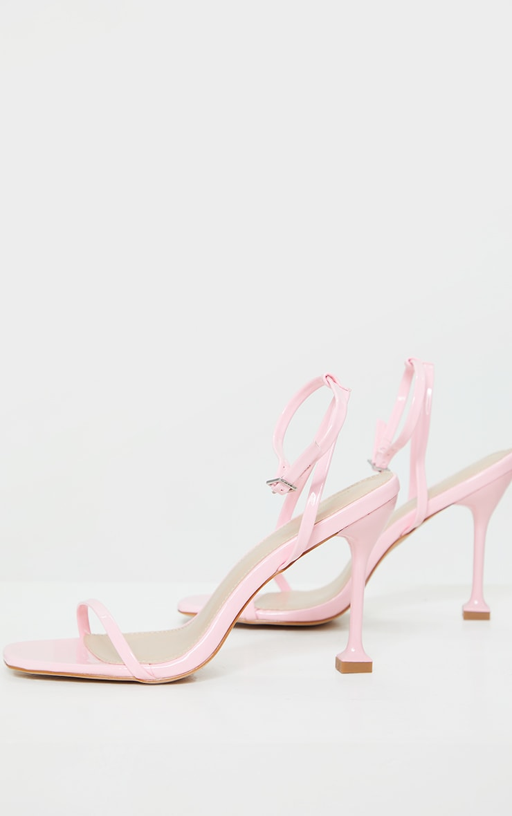 Baby Pink Square Toe Cake Stand Barely There High Heel 3