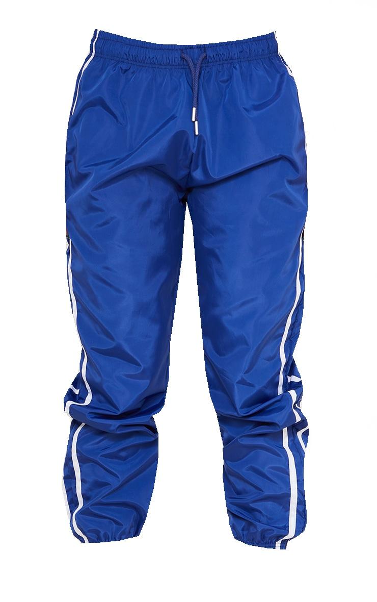 Cobalt Blue Contrast Side Stripe Shell Joggers 5