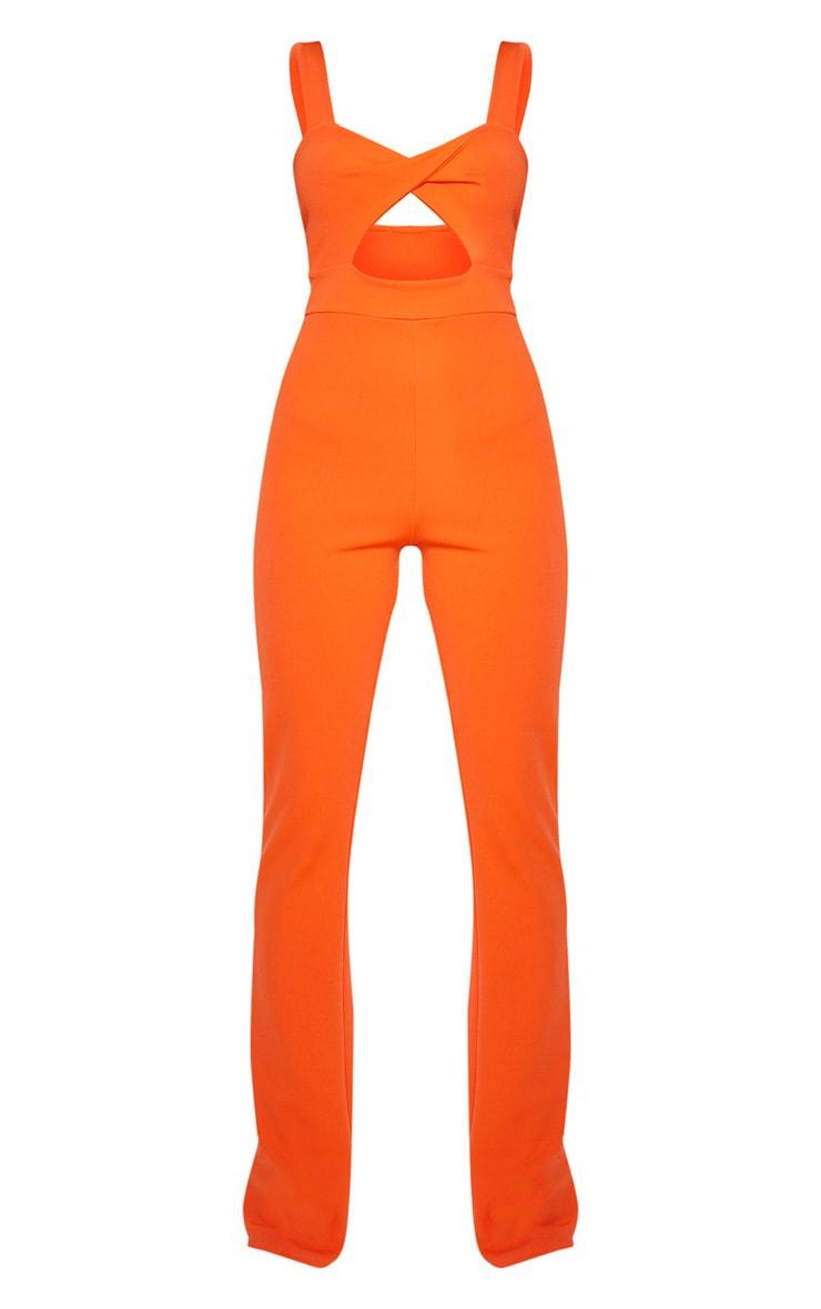 Orange Twist Front Jumpsuit 3