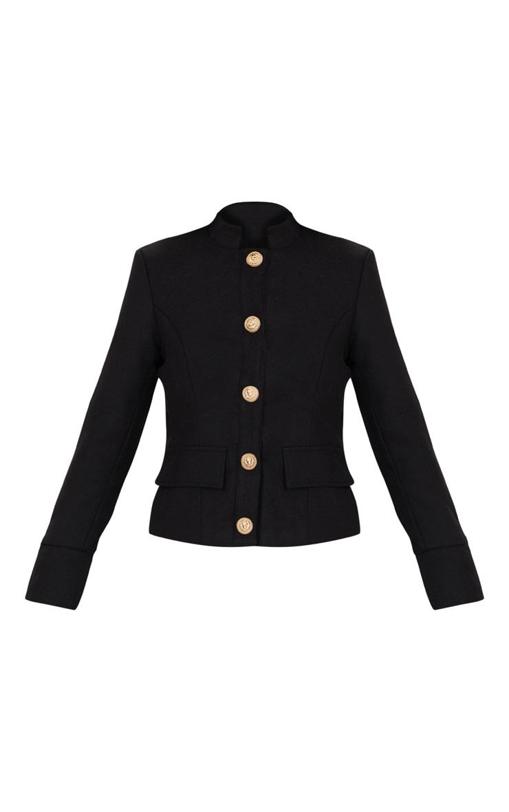 Black Military Jacket 3
