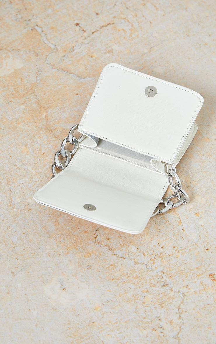 White Pu Silver Chunky Chain Grab Bag 4