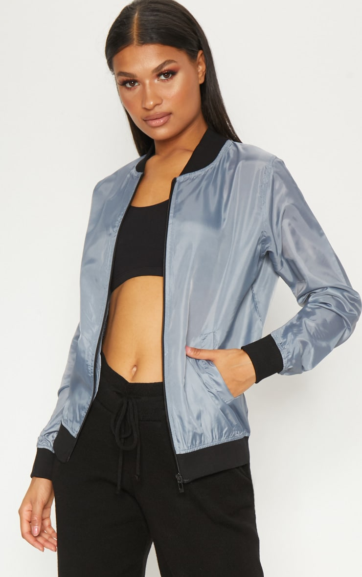 Grey Lightweight Bomber Jacket 4