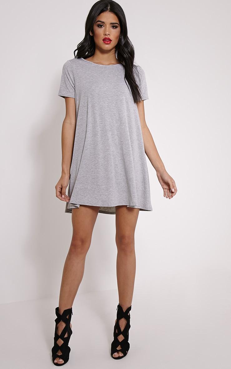 Basic Grey Jersey Swing Dress 3