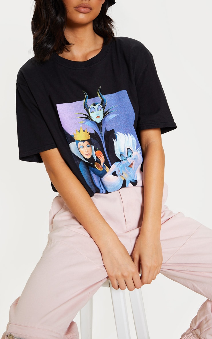 Black Disney Villains Oversized T Shirt 5