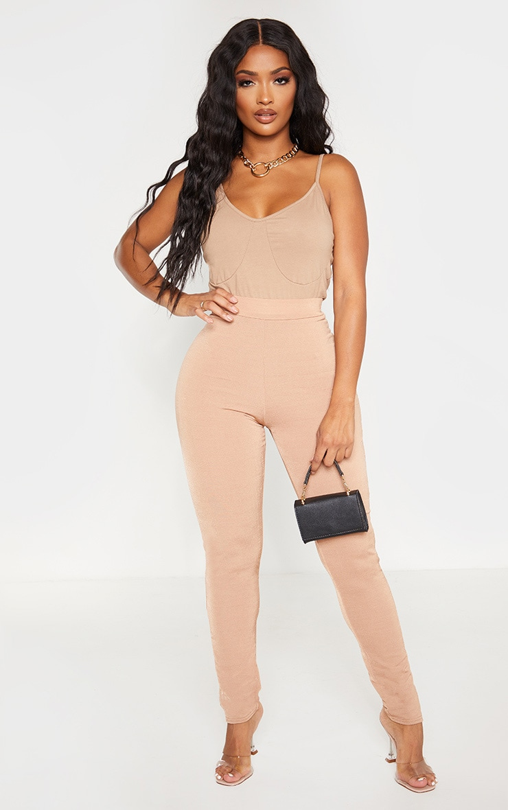 Shape Camel Fuller Bust Cup Detail Strappy Cami  4