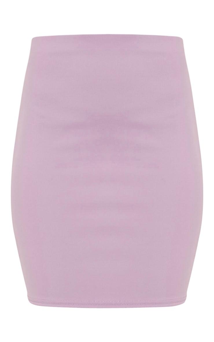 Milah Lilac Scuba Mini Skirt 3