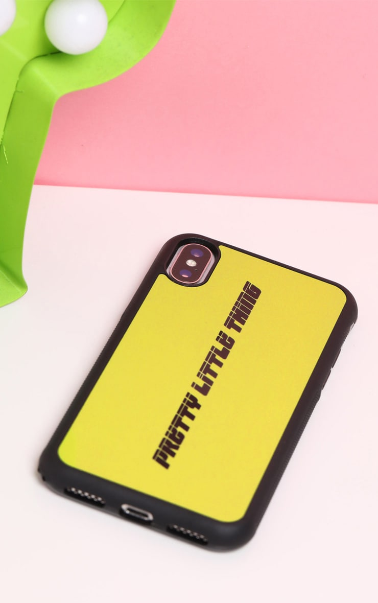 PRETTYLITTLETHING Neon Lime Logo XMAX iPhone Case  3