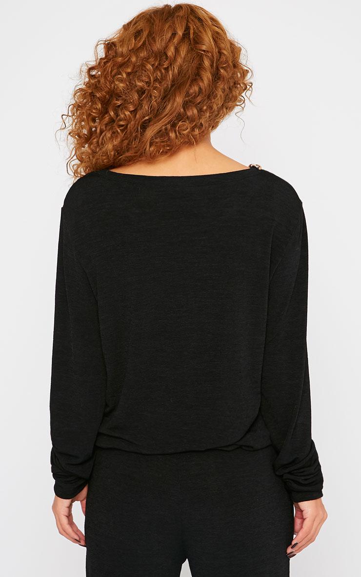 Jovana Black Chain Detail Sweater 2