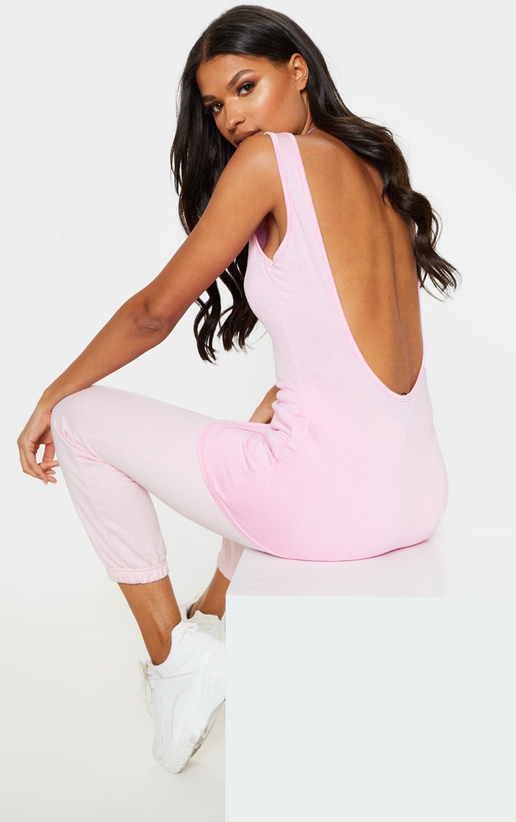 11973ad5382 Basic Baby Pink Jersey Scoop Low Back Vest | PrettyLittleThing