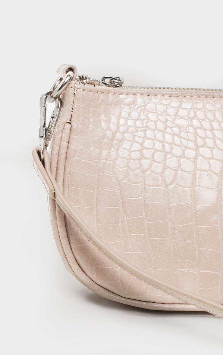 Nude Croc 90s Shoulder Bag 4