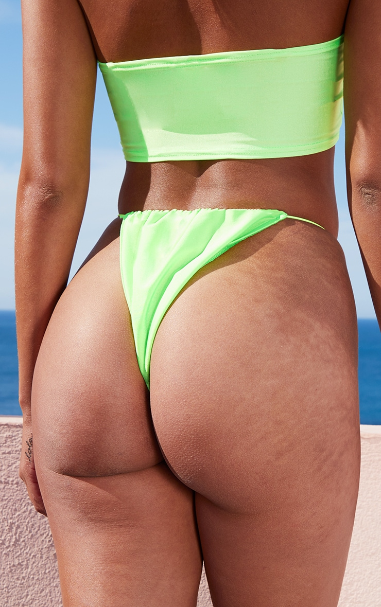 Lime Elastic Side Bikini Bottom 3