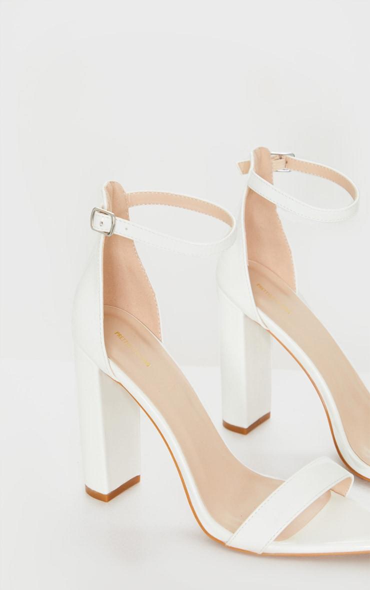 White Point Toe Block Heel Sandal 4