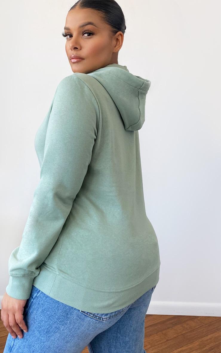 Plus Mint Basic Pocket Detail Hoodie 2